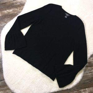 PECK & PECK Cashmere Flare Sleeve Knit Sweater